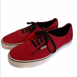 Vans Classic Red Sneakers - Size 10.5